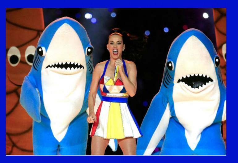 Katy Perry Performing In The 2015 Superbowl Halftime Show