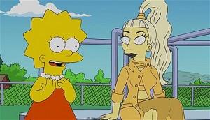 """Lady Gaga And Lisa Simpson On """"Lisa Goes Gaga"""" On """"The Simpsons"""" Season 23 Finale Fox"""