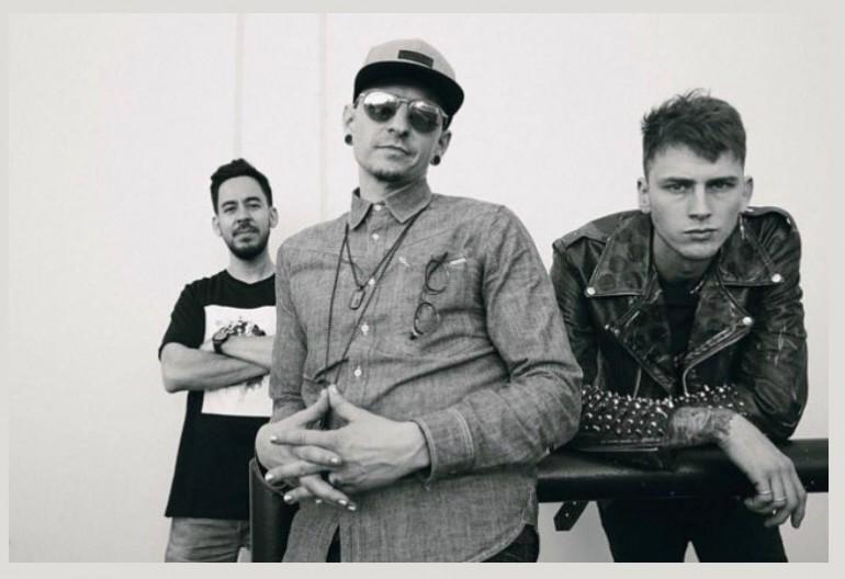 Mike Schinoda, Chester Bennington (Of Linkin Park) With Machine Gun Kelly