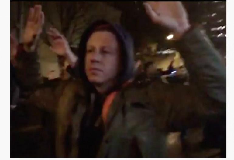 Macklemore At Seattle Protest Via KING 5  TV