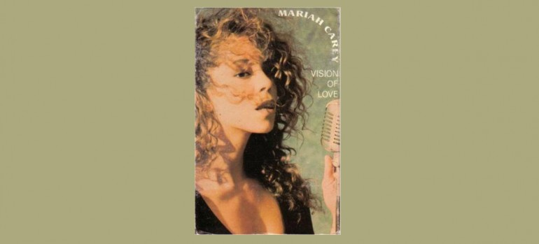 "Mariah Carey ""Vision Of Love"" Columbia Records (May 1990 Cassette Cover For The USA And Canada)"