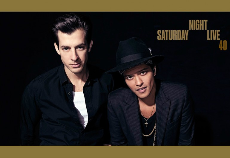 Mark Ronson And Bruno Mars On SNL