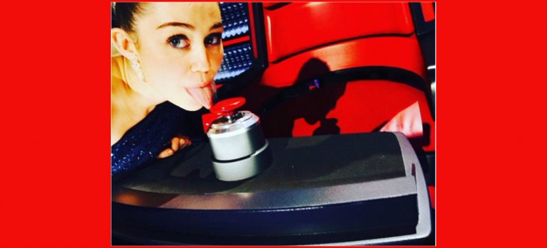 Miley Cyrus On Set Of The Voice Via Instagram