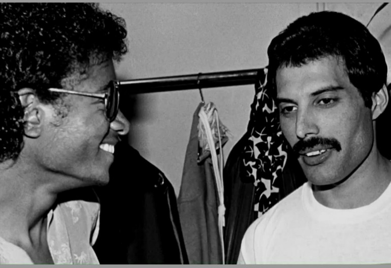 Micheal Jackson With Freddy Mercury