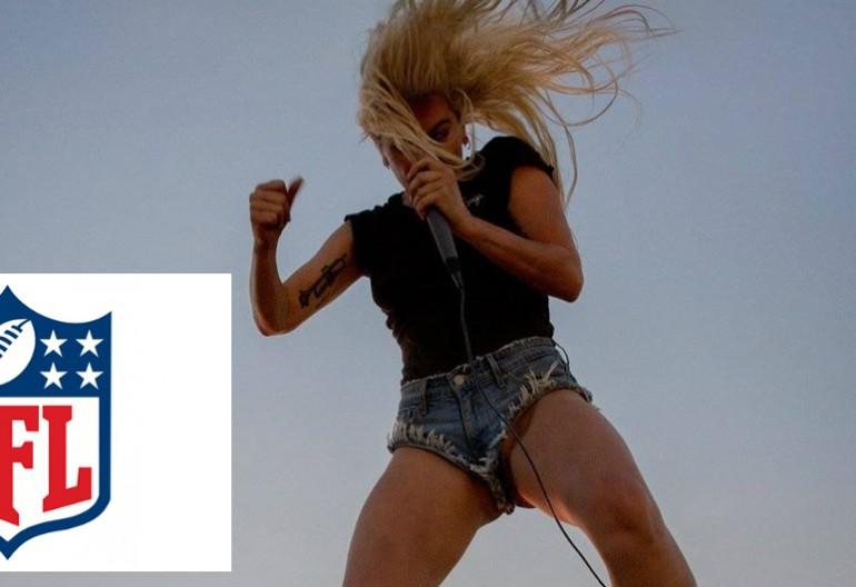 "NFL logo/Lady Gaga ""Perfect Illusion"" Promotional art via Streamline/Interscope Records"