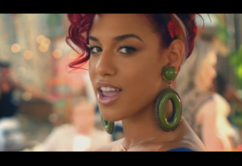 "Natalie La rose In ""Around The World"" Music Video"