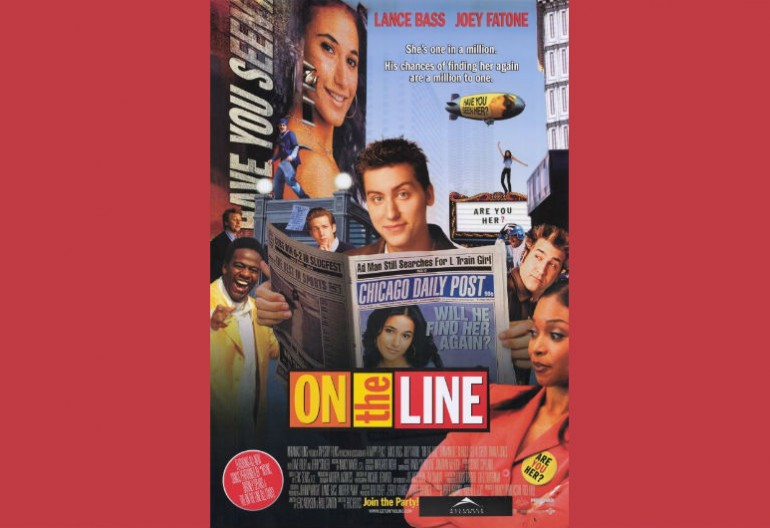 The movie poster for the 2001 film On The Line starring Lance Bass.