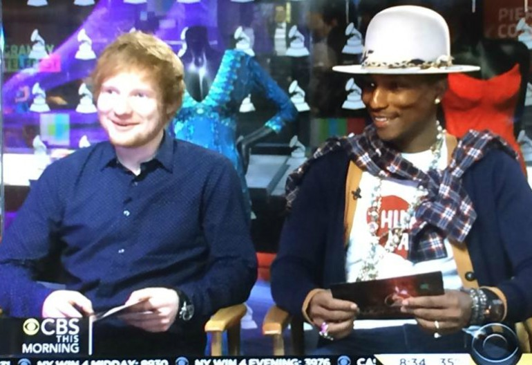 Ed Sheeran & Pharrell Williams On CBS This Morning