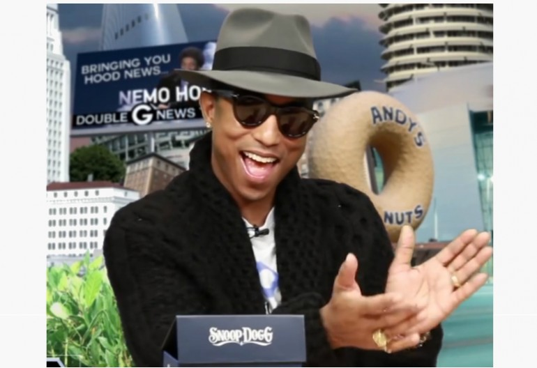 "Video Still Of Pharrell On ""GGN"""