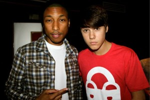 Pharrell Williams With Justin Bieber