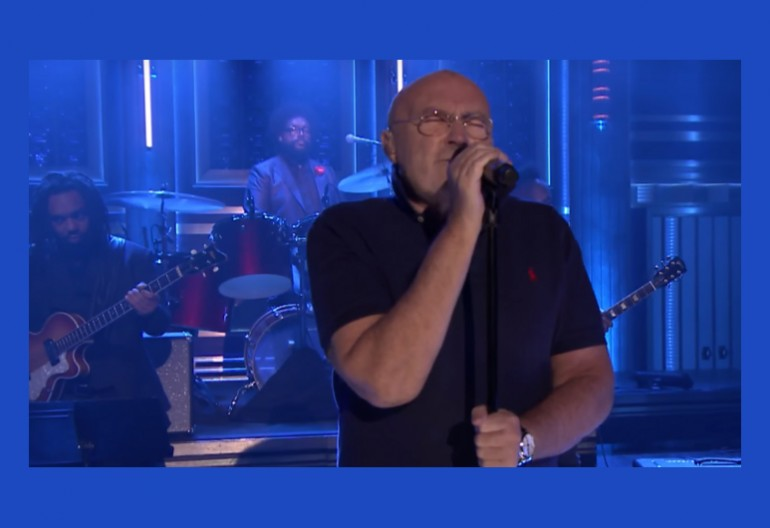 "Phil Collins on ""The Tonight Show Starring Jimmy Fallon"" NBC"