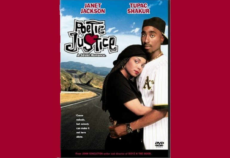 The DVD cover to the 1993 film Poetic Justice, which featured poems by Maya Angelou.