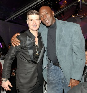 Robin Thicke With Michael Jordan