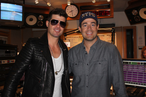 Robin Thicke And Carson Daly