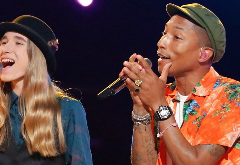 Sawyer Fredricks With Pharrell Williams on The Voice