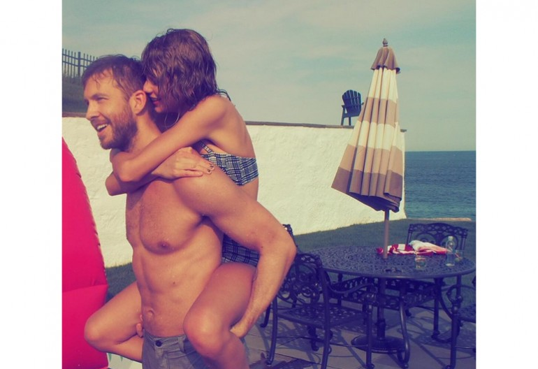 Taylor Swift With Calvin Harris, Image Via Instagram