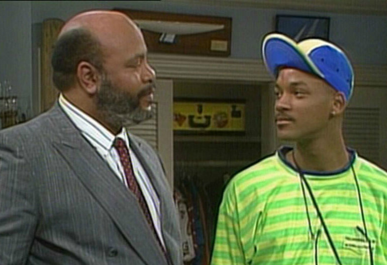 James Avery And Will Smith On The Fresh Prince Of Bel Air
