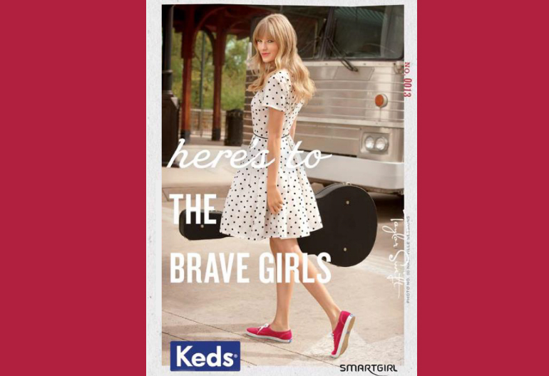 KEDS' ad for the Taylor Swift Collection