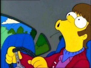 "young Homer Simpson Singing Steve Miller Band's ""The Joker"""
