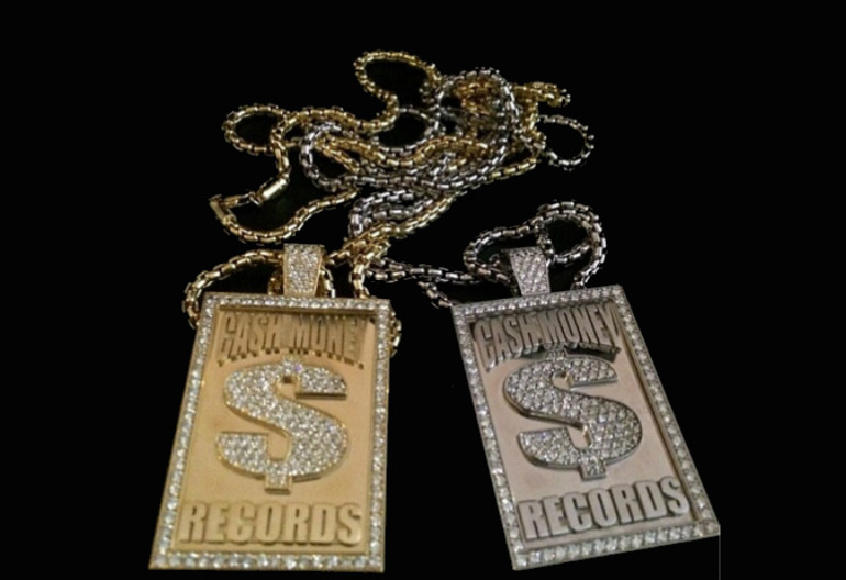 Two Cash Money Records chains that TMZ reports The Game recently purchased for $40,000.