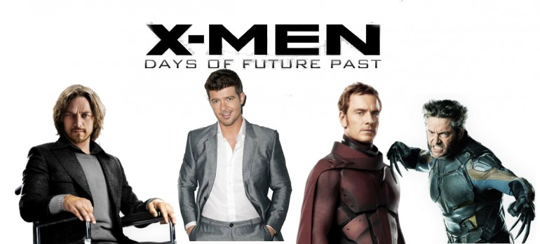 Clizbeats' Made Image of Robin Thicke With X-Men Characters