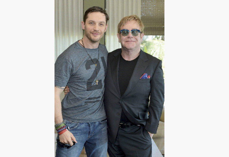 Tom Hardy With Elton John