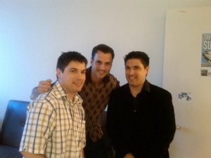 Craig Clizbe, Tommy Page, Matt Clizbe (2009 At Warner Bros. Records in New York City)