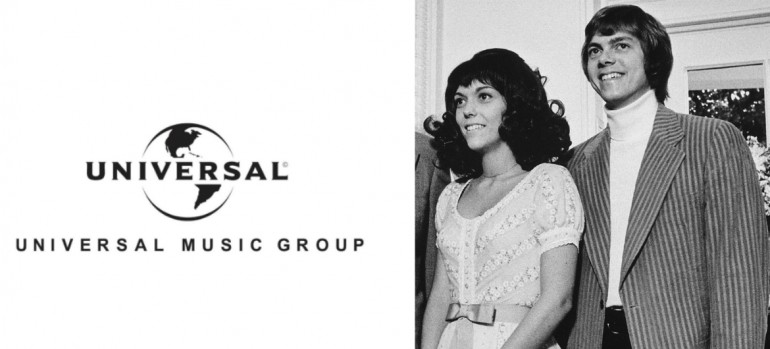Universal Music Group Logo/The Carpenters at The White House In 1972 via wikipedia