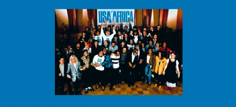 """USA For Africa """"We Are The World"""" Columbia Records/CBS"""