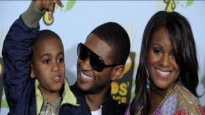 Usher And His Ex-Wife Tameka Foster With Foster's Son, Kyle Glover