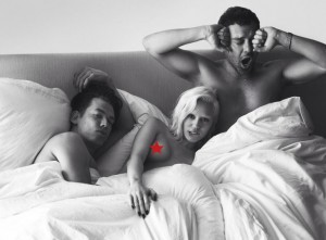 Miley Cyrus In Bed With Two Men For German Vogue Photo Shoot