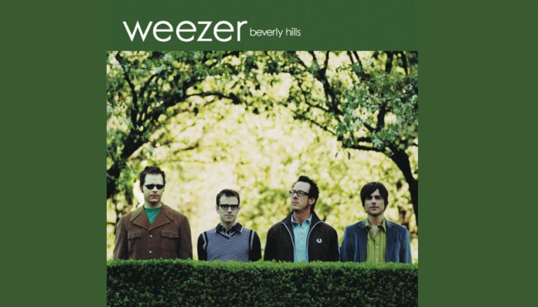 "Weezer's 2005 song ""Beverly Hills"" reached the #10 spot on the Billboard Hot 100."