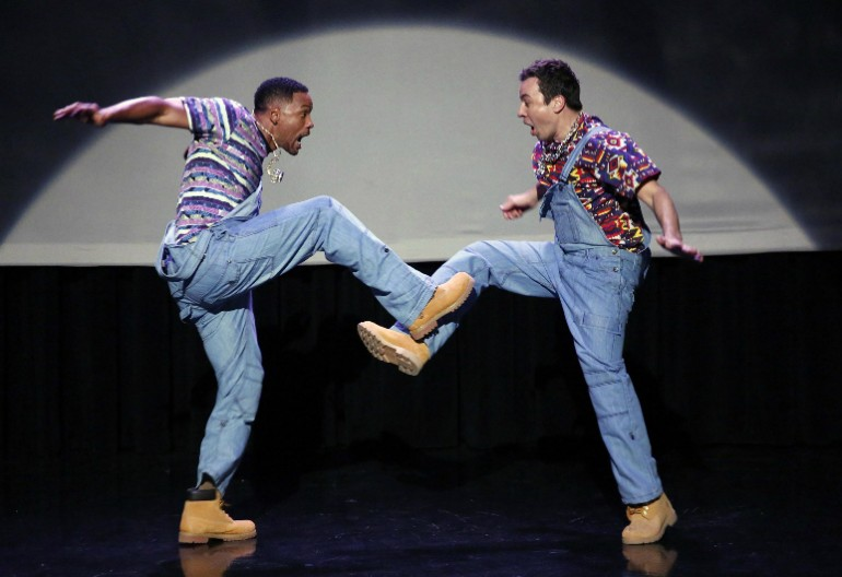 Video Still Of Will Smith Hip Hop Dancing With Jimmy Fallon on The Tonight Show