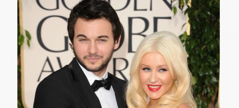 Christina Aguilera  With New Fiancé Matt Rutler At The Golden Globes