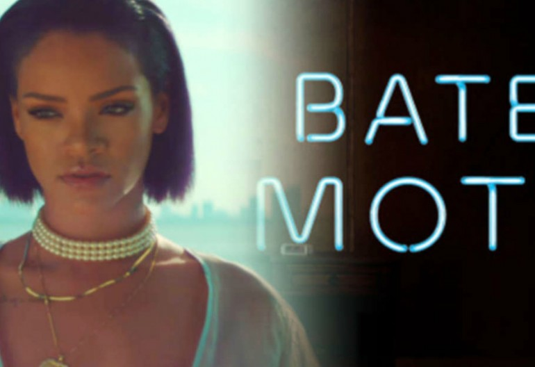 Rihanna/Bates Motel logo via A&E TV