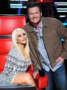 Christina Aguilera And Blake Shelton
