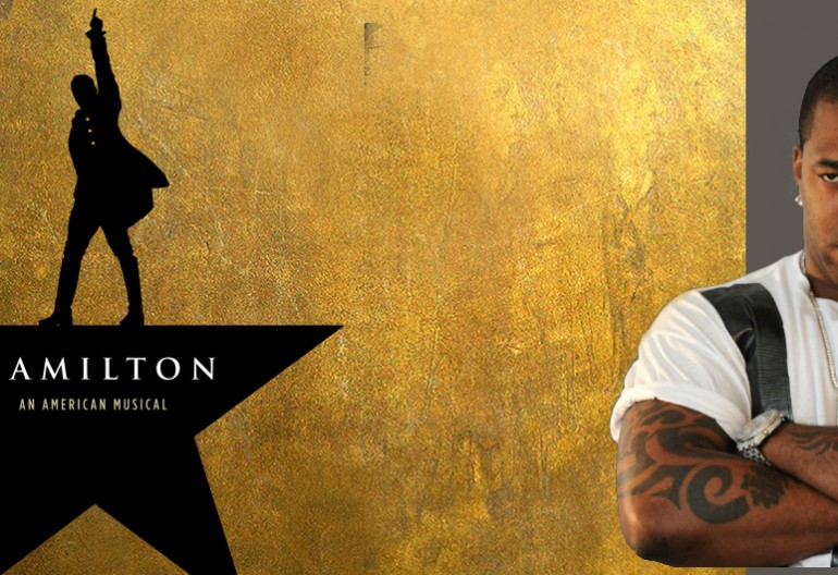 Hamilton Musical logo/Busta Rhymes Image via social media
