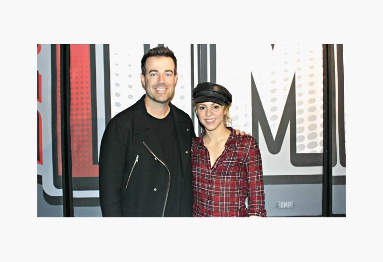 Cason Daly With Shakira At 97.1 AMP Radio