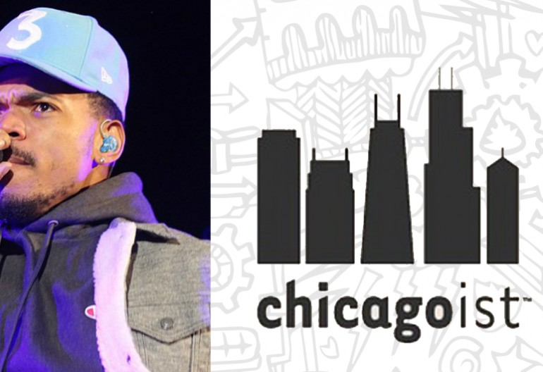 Chance The Rapper via Wikipedia/Chicagoist logo