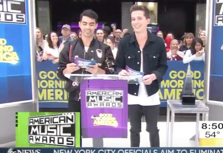Joe Jonas And Charlie Puth Announce American Music Award Nominations Live on ABC's Good Morning America