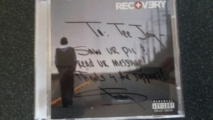 """Teejay's autographed """"Recovery"""" CD"""