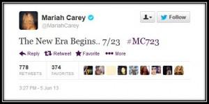 Mariah Carey Twitter Screen Shot