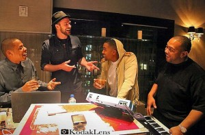 Justin Timberlake, Nas, Jay-Z, And Timbaland In Studio Together