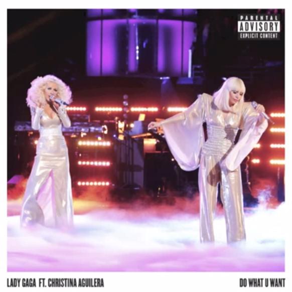 "Lady Gaga Featuring Christina Aguilera ""Do What U Want ...Do What You Want Lady Gaga Single Cover"