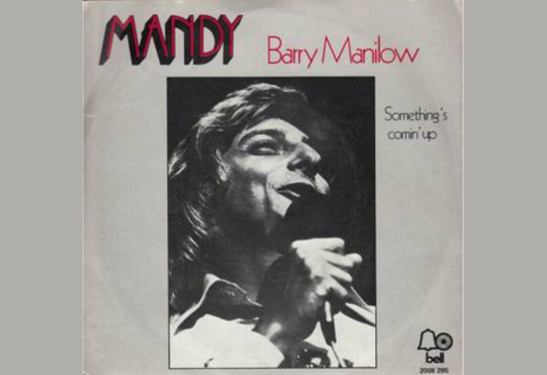 "Barry Manilow ""Mandy"" Single Art Arista Records"
