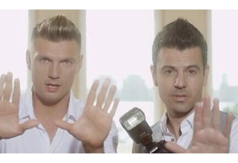 "Nick Carter And Jordan Knight In ""One More Time"" music Video"