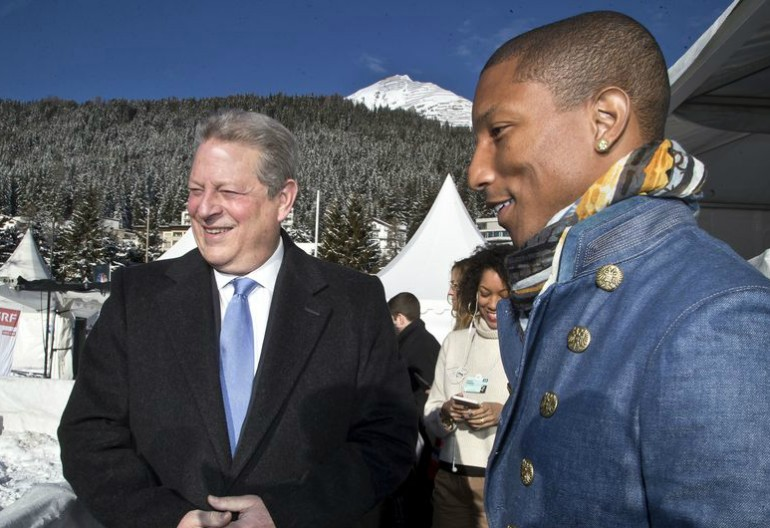 Al Gore With Pharrell Williams