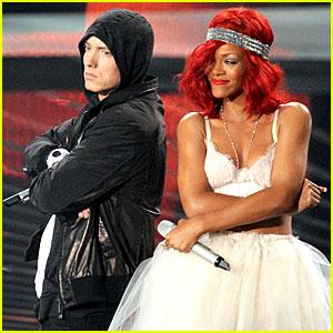 Emiem and Rihanna at 2010 MTV Video Music Awards