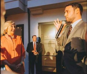Hillary Clinton With Scooter Braun