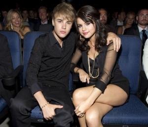 Justin Bieber With Selena Gomez  at Nokia Theatre L.A. Live